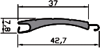 Cross-section of profile