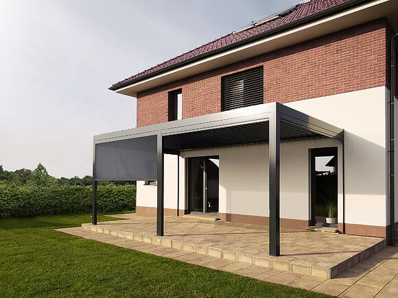 Bioclimatic, fabric pergolas