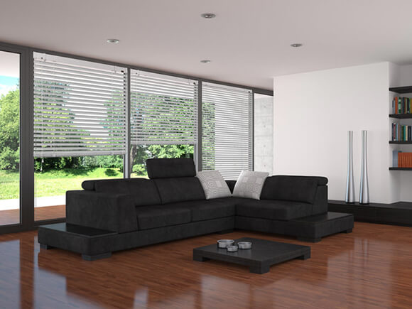 Horizontal, vertical interior blinds